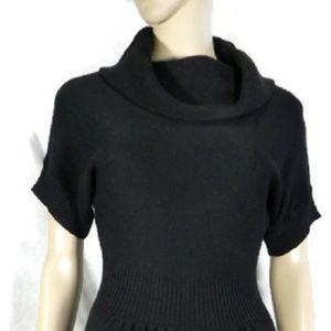 Ann Taylor LOFT Black Wool Dress XS